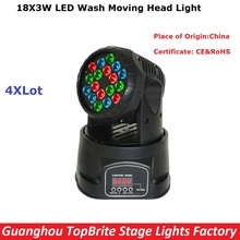 Free Shipping Newest 18X3W RGB LED Mini Moving Head Light High Quality 70W Moving Head Wash Lights For Disco Party Nightclubs