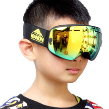 121714 NG9 2016 Professional Skiing Googles Anti Fog Mirror Kids Ski Goggles Riding Glasses Outdoor Climbing For Children
