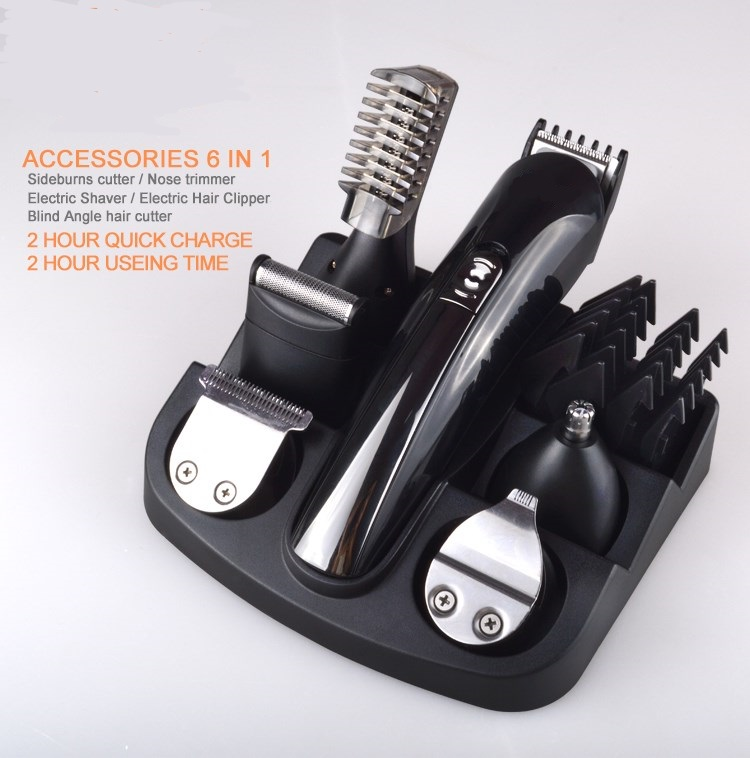 6 in 1 hair trimmer man grooming kit hair clipper electric shaver beard trimmer men styling salon shaving machine cutting barber<br>
