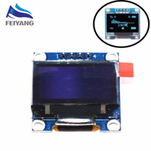"1pcs SAMIORE ROBOT 0.96""blue 0.96 inch OLED module 4pin 128X64 OLED LCD LED Display Module 0.96"" IIC I2C Communicate(China)"