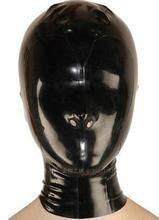 Buy Anatomical Latex Mask Black Rubber Fetish Latex Hoods Masks Nose catsuit costume Condom Rubber customized