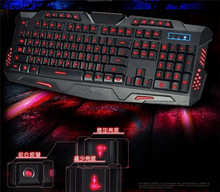 English Pro breathing light Gaming Keyboard for computer mac Red/Purple/Blue backlight Backlight LED wired keyboard jp4