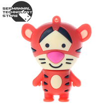 Miniseas usb flash drive 2016 cartoon tiger Tigger 4g 8g 16g 32g 64g memory usb stick u disk pen drive pendrive For PC