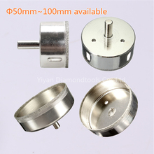 50mm~100mm Large Size Diamond Coated Drill Bit Hole Saw Kit Glass Ceramic Marble Cutter Tip