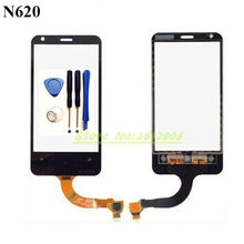 Original High Quality 3.8'' For Nokia Lumia 620 N620 Touch Screen Digitizer Sensor Front Glass Lens panel + tools