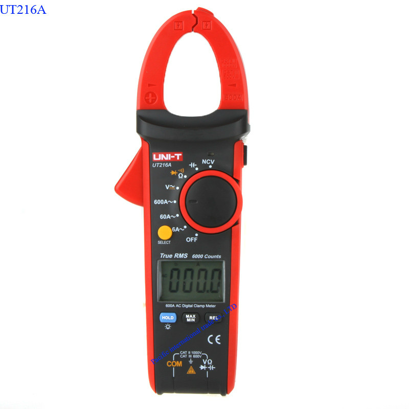 UNI-T UT216A Digital Clamp Meter Auto Range AC/DC/Resistance/Capacitance/  Data Hold LCD Backlight Digital Clamp  Multitester<br>