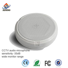 SIZHENG high sensitive -35dB mini ceiling audio monitoring microphone wall sound pickup mic for CCTV camera