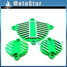 Alloy Cam Cover Valve Cap Dress Up Kit  For Chinese YX 160cc 1P60FMK 150cc 1P60FMJ Engine Pit Dirt Motor Bike Motorcycle Green