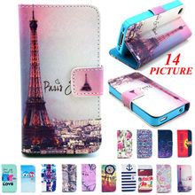 For Apple iPhone 4 4S Case Luxury Flip PU Leather Protective Covers with Wallet Credit Card Stand Fashion Style NEW