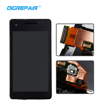 Black For Sony Xperia V LT25 LT25i LCD Display Touch Screen Digitizer With Bezel Frame Assembly Replacement Parts, Free shipping