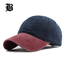 [FLB] 9 Mixed colors Washed Denim Snapback Hats Autumn Summer Men Women Baseball Cap Golf Sunblock Beisbol Casquette Hockey Caps(China)