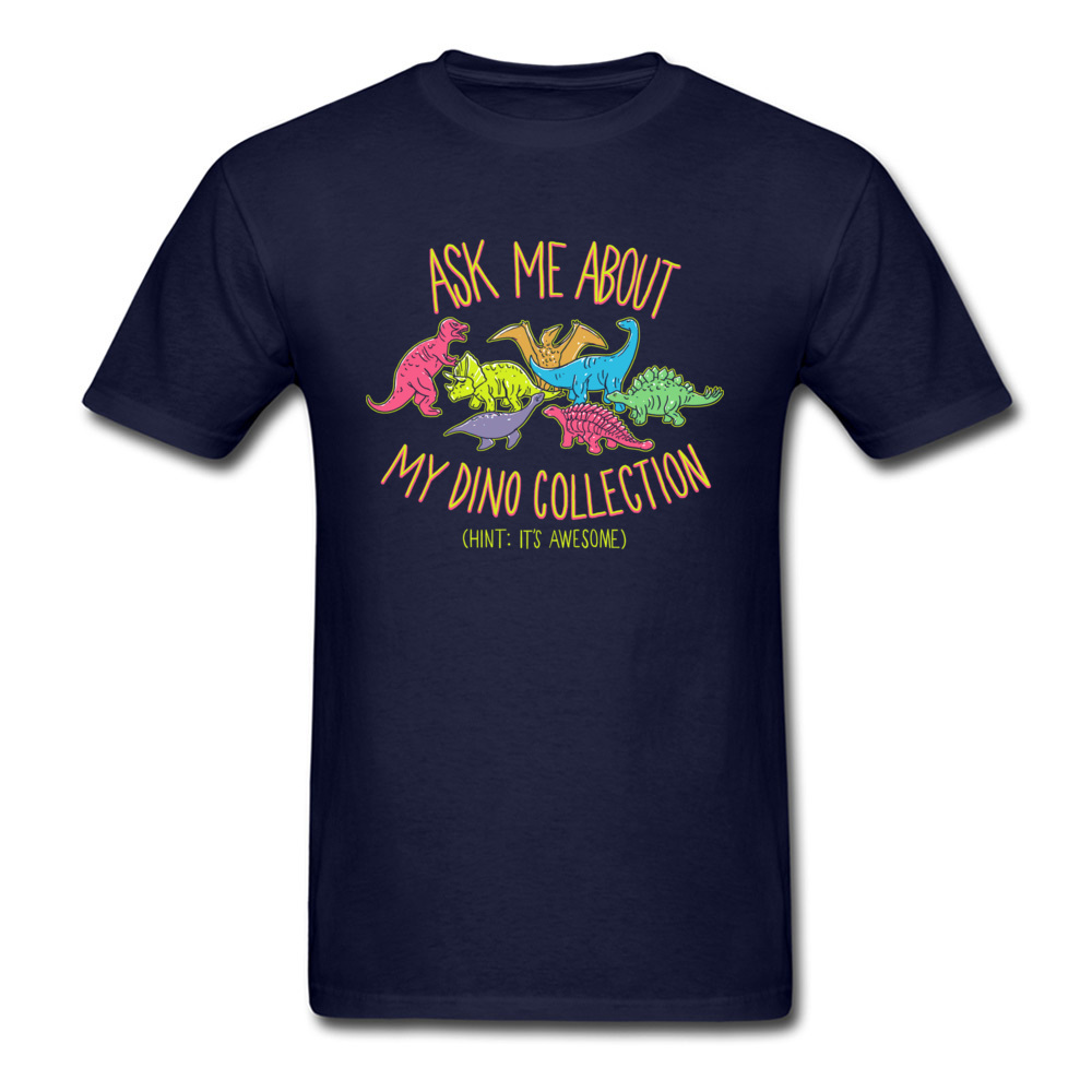 Normal dino collection 5493 Men T Shirt Newest Autumn Short Sleeve Crewneck 100% Cotton Tops & Tees Normal Tee-Shirt dino collection 5493 navy