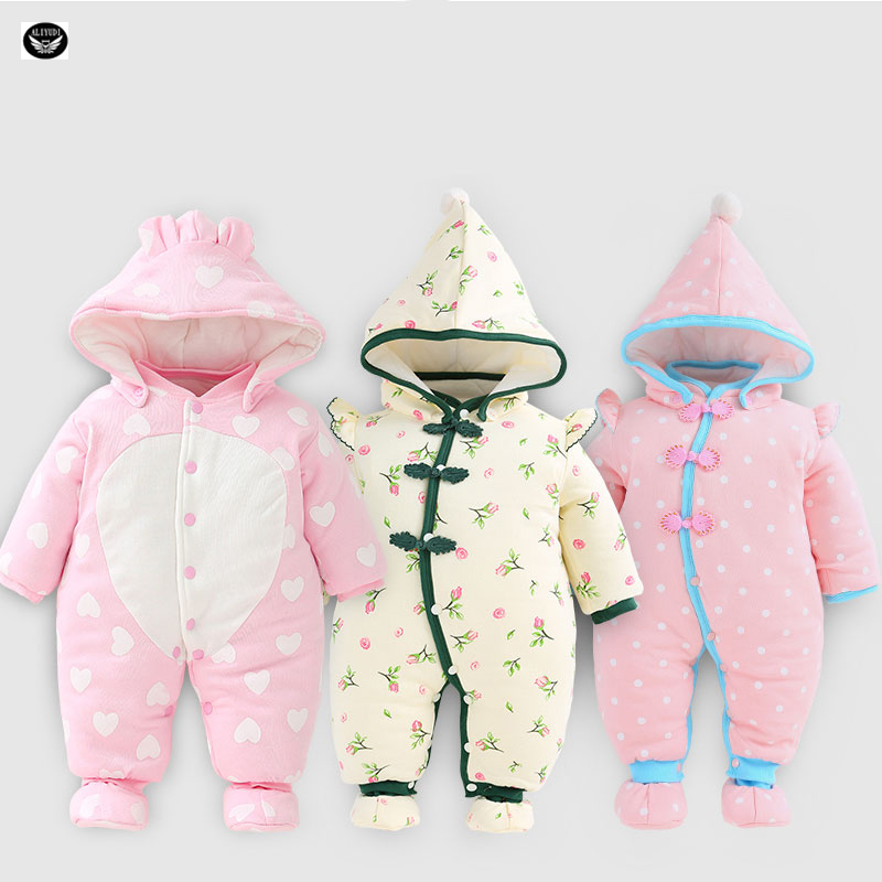 2017 Newborn Warm Baby Clothes Animal Winter Clothing Thicken Romper Baby Climb Clothes Cotton-Padded Overalls Hooded Jumpsuit<br><br>Aliexpress