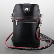 Universal mobile phone bag With Shoulder Strap For iPhone 7+ Leather Wallet Pouch For iPhone 6s Plus, For Samsung note4 & note5