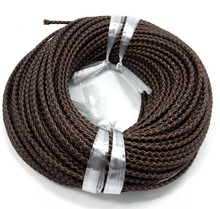 Brown True cowhide braid Cord 3mm dia. Beading Wire Handcraft Accessories for bracelet necklace free shiping