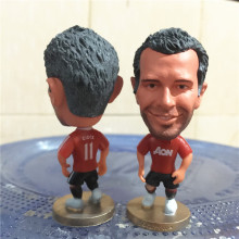 Soccerwe 2009 Season 2.55 Inches Height Football Dolls United 11 Ryan Giggs Figure for Fans Collections Red Kit Gift