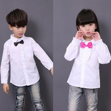 New  Boys Dress Shirts White  Boys And Girls  School  Blouses Camisas Nino  Boys Shirts 6BBL105