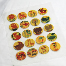 20Pcs Vintage Plant Offset Press Iron-on Patches for Clothing Offset PET Transfer DIY Scrapbooking Materials Patches 2x2cmcm(China)