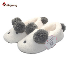 Buy Suihyung New Women's Winter Cotton Shoes Cute Bear Hairball Indoor Shoes Warm Cashmere Home Shoes Soft Non-slip Floor Slippers for $11.24 in AliExpress store