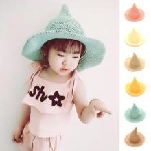 Cute children's hat summer boys girls candy colour fisherman hat caps for kids sun hat Halloween costumes D3-26B