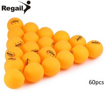 2017 REGAIL 60pcs 5g/pcs Stand Table Tennis Balls 3 star 40mm Practice Sports Entertainment PingPong Ball White And Yellow(China)