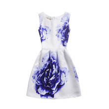 Buy 2017 New Spring Summer Autumn Vintage Dress Print Floral Slim Sleeveless Vest Dresses Big Size Women Party Vestidos De Festa for $6.68 in AliExpress store