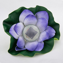 Purpel Solar Lotus Pond Water Bleaching Light Novelty Night Light Party Supply Children Gifts