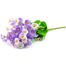 Artificial Silk Flower Wedding Party Home Decor Campanula Leaf Bouquet Beautiful(China)