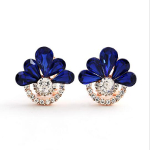 Manufacturers selling new Korean fashion earrings with Rhine Stone Earrings Clip environmental alloy earrings fine jewelry