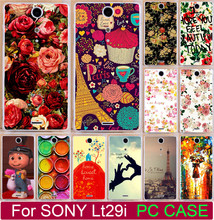 Beautiful Rose Peony Flower Vintage Aztec Tribal Totem PC Cases For Sony Ericsson Xperia TX lt29i Phone Case Back Cover Shell
