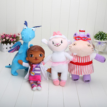 28-34cm The Hippo Dragon Cute Plush Soft McStuffin Lambie sheep Hallie Doc McStuffins Doll Plush Toys(China)