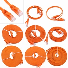 Orange 1000M high speed RJ45 CAT6 Ethernet Network Flat LAN Cable UTP Patch Router Cables 0.5m 1m 2m 3m 5m 8m 10m 15m (Optional)(China)