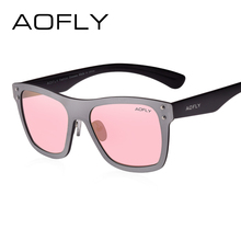 AOFLY Original Design Women Sunglasses UV400 Mirrored Lenses Frame Sun Glasses Brand Eyewear Fashion Decoration With Case AF6024(China)