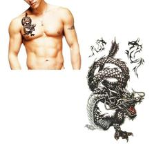 10*20.5cm Creative design black dragon waterproof and sweat tattoo stickers Aug 16