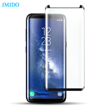 IMIDO 3D 9H Tempered Glass For Samsung Galaxy S8 Screen Protector Protective Film For Samsung Galaxy S8 Plus Case Friendly
