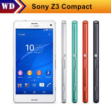 Original Unlocked  D5803 Sony Xperia Z3 Compact Mobile Phones 4.6 Inches Touch Screen 20.7MP Camera 16GB ROM Free Shipping