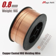 CO2 welding wire flux gas shielding mig stainless steel mild metal arc solid 0.8mm spool reel accessories copper solder rod(China)