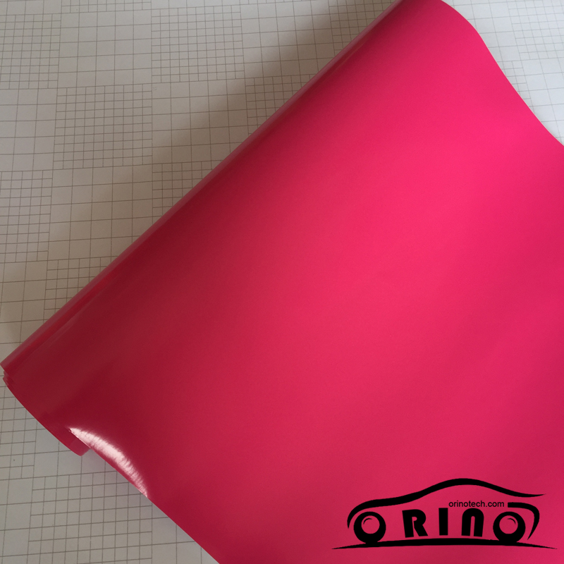Glossy Rose Red Vinyl Wrap-3