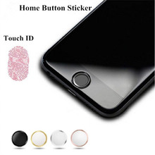 8PCS Fingerprint Support Touch ID Aluminium Metal Home Button Stickers For iPhone 7 7Plus 6 6S Plus 5 5S SE 5C + Retail packing