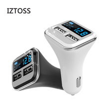 IZTOSS 4.8A LED Display Dual USB Car Charger car Phone charger for cellphones Driving recorder Tablet New