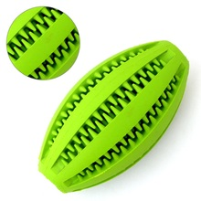 Pets Dog Cat Toy Cleaning Training Rubber Rugby Chew Ball Toys Have Fun Diet Control Massaging Ball