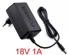 1PCS 18V 1A High quality IC solutions  AC 100V-240V Converter Adapter DC 18V 1A 1000mA Power Supply EU Plug 5.5mm x 2.1-2.5mm