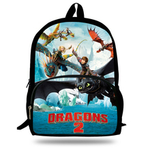 16-inch Mochilas Escolares Infantis Kids Backpack How to Train Your Dragon Bag Toothless Hiccup Print Children School Bags Boys(China)