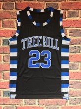 One Tree Hill Nathan Scott 23 Ravens Basketball Jersey All Stitched Black(China)