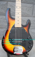 new 5 string electric bass guitar in fade made in China  free shipping+foam box F-173
