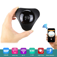 Mini 360 Panoramic VR camera Wireless HD 960P IP Camera Wifi Security with IR Night Vision /2-way Audio for Home Store office(China)