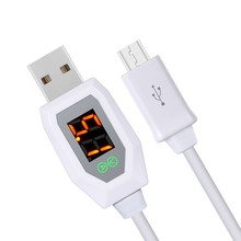 New Design 1M Micro USB Data Charging Cable LCD Digital Indicator Current Voltage Time High Quality for Android Phone
