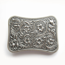 Distribute Belt Buckle Original Silver Plated Western Flower  Belt Buckle Free Shipping 6pcs Per Lot Mix Style is Ok