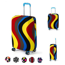 Yesello Dot Number Waves Travel Road Luggage Cover Protective Suitcase Trolley Case Travel Luggage Dust for 18 to 30inch