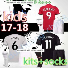 Free shipping Lukaku 3 children ibrahimovic manchesteer football jerseys uniteds soccer jersey 2017 2018 football jersey + sock(China)